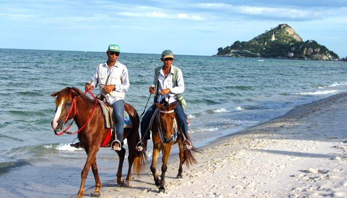 Horse riding on the beach in Hua Hin