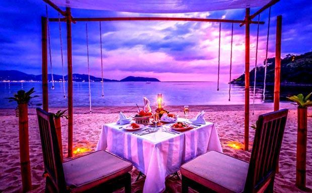 Romantic dining at Thavorn Beach Village Phuket
