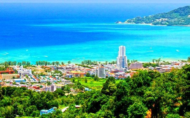 View across Patong Bay