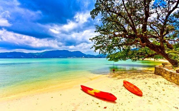 Quiet east coast Phuket Beaches