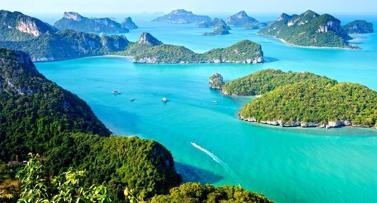 Day trips to Angthong Marine Park near Koh Samui