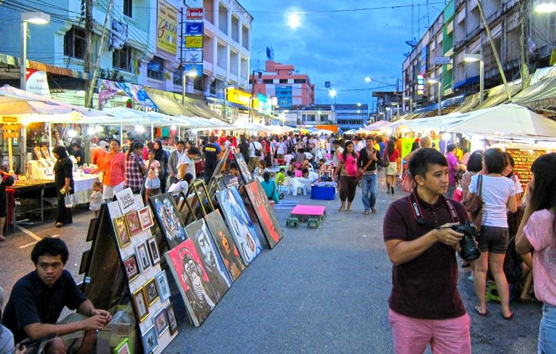 Street markets in Krabi
