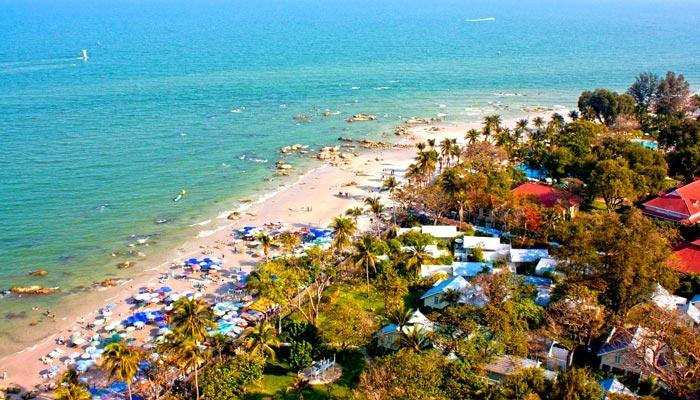 Hua Hin city centre beach